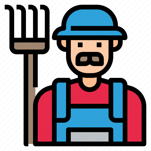 agriculture, avatar, character, farmer, man, profession icon
