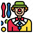 avatar, circus, clown, costume, joker, juggler, juggling icon