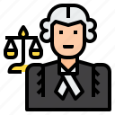 avatar, job, judge, lawyer, occupation, profession, uniform icon