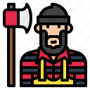 avatar, carpenter, cartoon, character, lumberjack, man icon