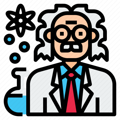 avatar, character, man, occupation, people, profession, scientist icon