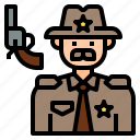 avatar, character, man, officer, profession, sheriff icon