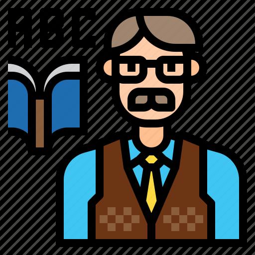 avatar, character, job, profession, teacher, work icon