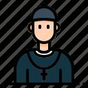 avatar, christian, pastor, priest, religion icon