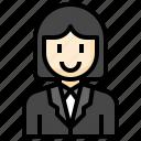 businesswoman, woman, user, people, profile
