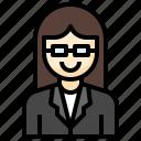 teacher, suit, woman, female, business