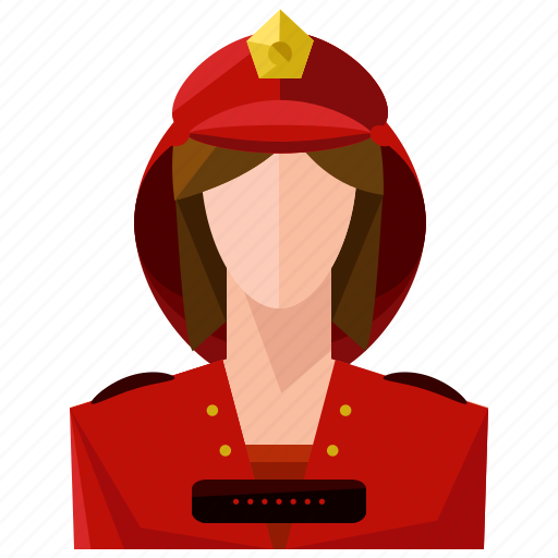avatar, fighter, fire, profession, profile, user, woman icon