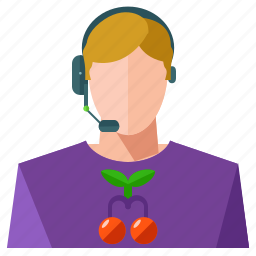 avatar, customer, headphone, man, profession, service, user icon
