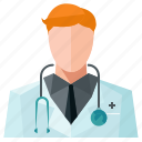 avatar, doctor, man, profile, user icon