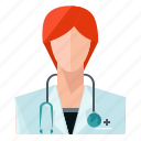 avatar, doctor, profile, user, woman icon