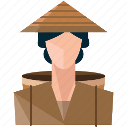 avatar, farmer, profile, user, woman icon