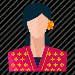 avatar, profession, profile, restaurant, service, user, woman icon
