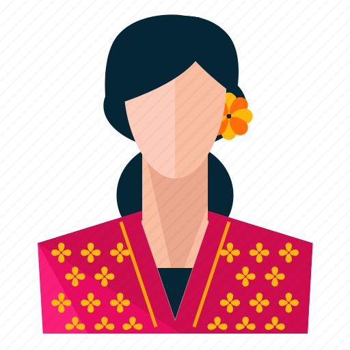 Profile, woman, user, avatar icon