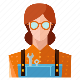avatar, mechanic, profession, profile, service, user, woman icon
