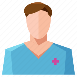 avatar, man, medical, nurse, profession, profile, user icon