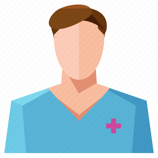 avatar, man, nurse, profile, user icon