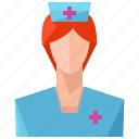 avatar, nurse, profile, user, woman icon