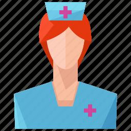 avatar, nurse, profile, user, woman icon