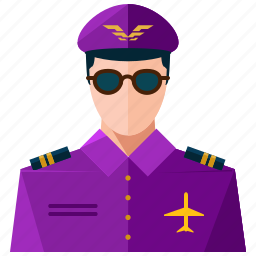 avatar, man, pilot, profile, user icon