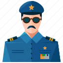avatar, man, police, profile, user icon