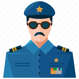 avatar, law, man, police, profession, profile, user icon