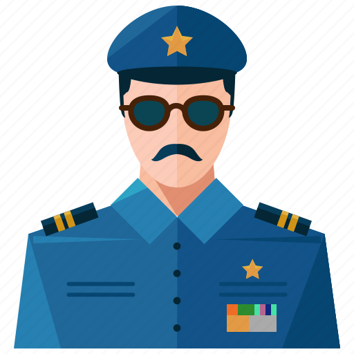 avatar, man, police, profile, user icon