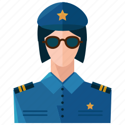avatar, law, police, profession, profile, user, woman icon