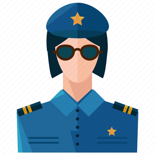 avatar, police, user, woman icon