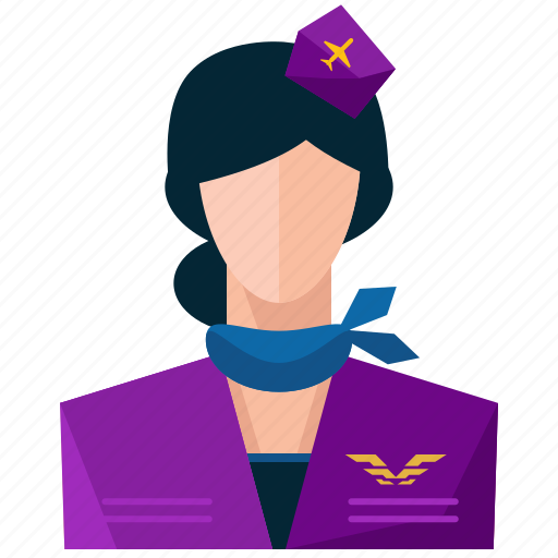 avatar, profile, stewardess, user, woman icon