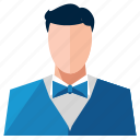 avatar, man, profile, user, waiter icon