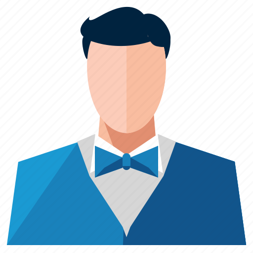 avatar, man, profession, profile, service, user, waiter icon