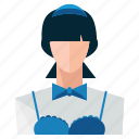avatar, profile, user, waitress, woman icon