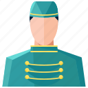 avatar, bellboy, man, profile, user icon