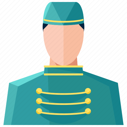 avatar, bellboy, man, profession, profile, service, user icon