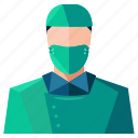 avatar, man, profile, surgeon, user icon