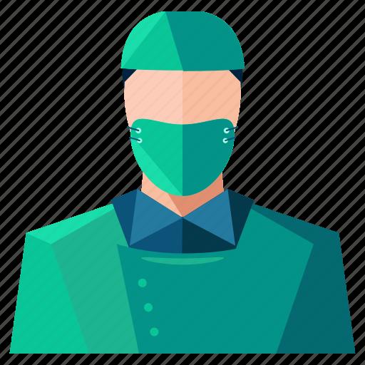 avatar, man, person, profession, profile, surgeon, user icon
