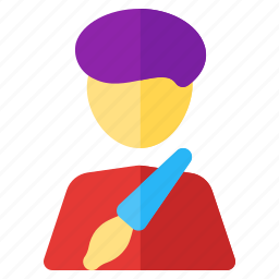 artist, job, occupancy, profession, work, worker icon