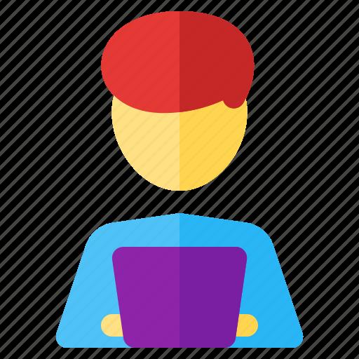computer, job, occupancy, profession, programmer, work, worker icon