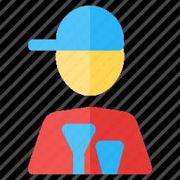 job, occupancy, profession, waiter, work, worker icon