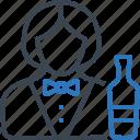 bartender, female, serving, waitress icon
