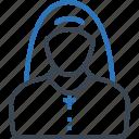 avatar, nun, profession, sister icon