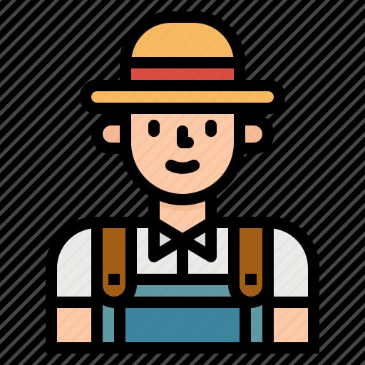 avatar, farmer, job, man, occupation, people icon