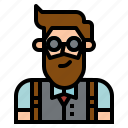 avatar, bartender, boy, groom, hipster, man, profile
