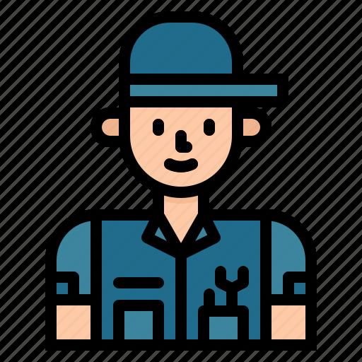 avatar, job, mechanic, people, user, worker icon