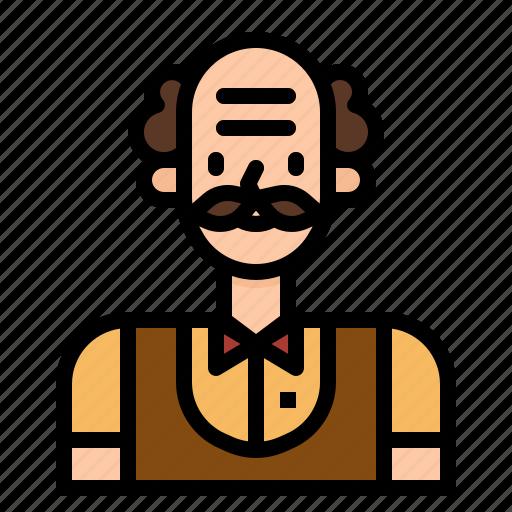 avatar, man, professor, scientist, teacher, user icon