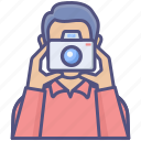 avatar, occupation, photographer, photographs, profession icon
