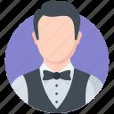 man, profession, steward, waiter icon