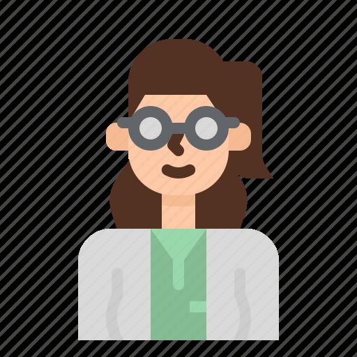 avatar, doctor, job, occupation, pharmacy, woman icon