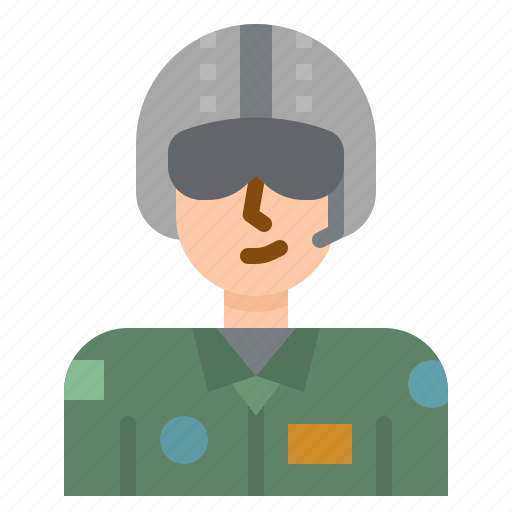 airforce, avatar, job, occupation, people, soldier icon