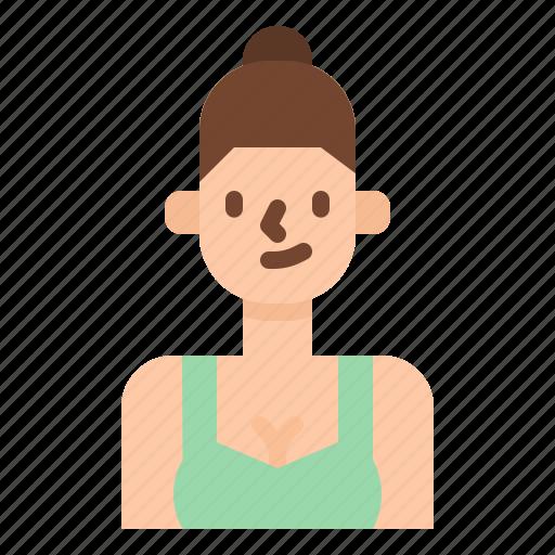 avatar, girl, runner, sport, trainer, woman icon
